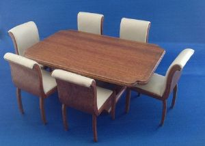 272. 1930s Dining Table and Chairs